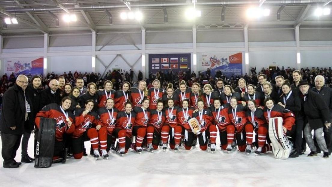 L'équipe canadienne féminine des moins de 18 ans