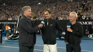 Entrevue de Will Ferrell avec Roger Federer
