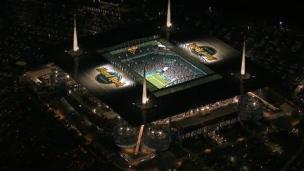 Un stade et un vestiaire gigantesque!