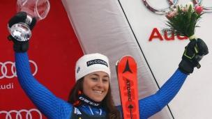 Sophia Goggia gagne devant les siens