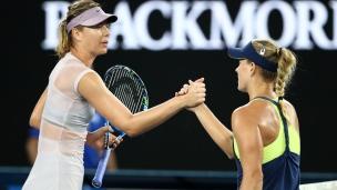 Kerber montre la porte à Sharapova