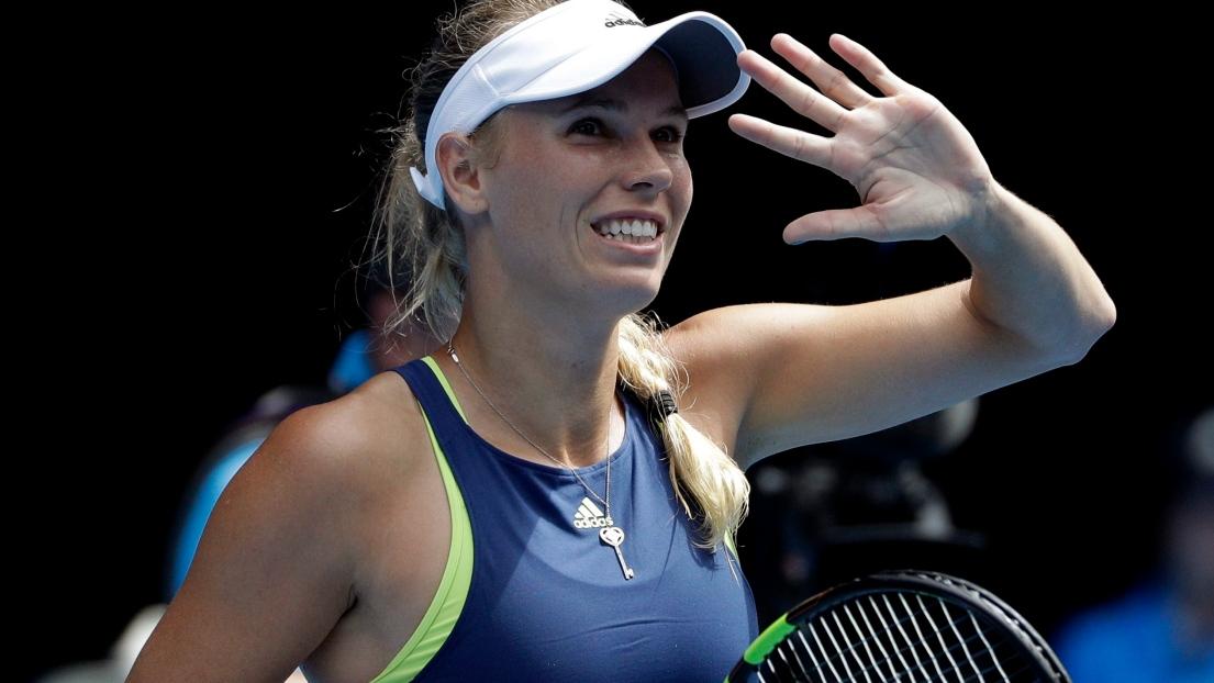 Caroline Wozniacki en une heure en quarts de finale