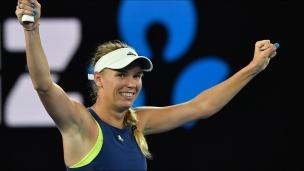 Wozniacki retourne en demi-finales