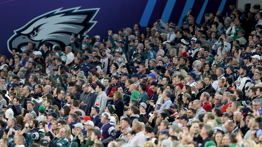 Des partisans des Eagles au Super Bowl LII