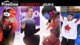 Kim Boutin, Patrick Chan, Dara Howell et Rene Bourque