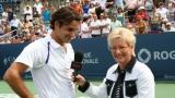Roger Federer et Hélène Pelletier