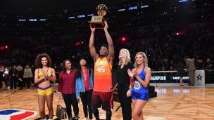 Donovan Mitchell remporte le concours de dunk