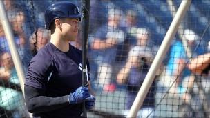 Stanton : 1er entraînement avec les Yankees