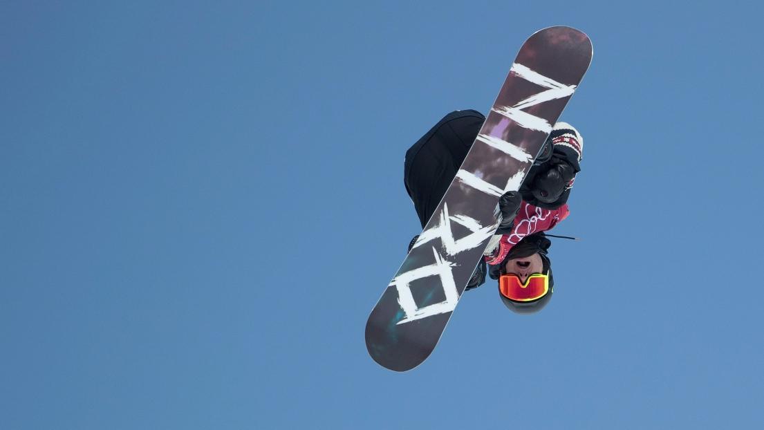 Maxence Parrot en finale du grand saut — Surf des neiges