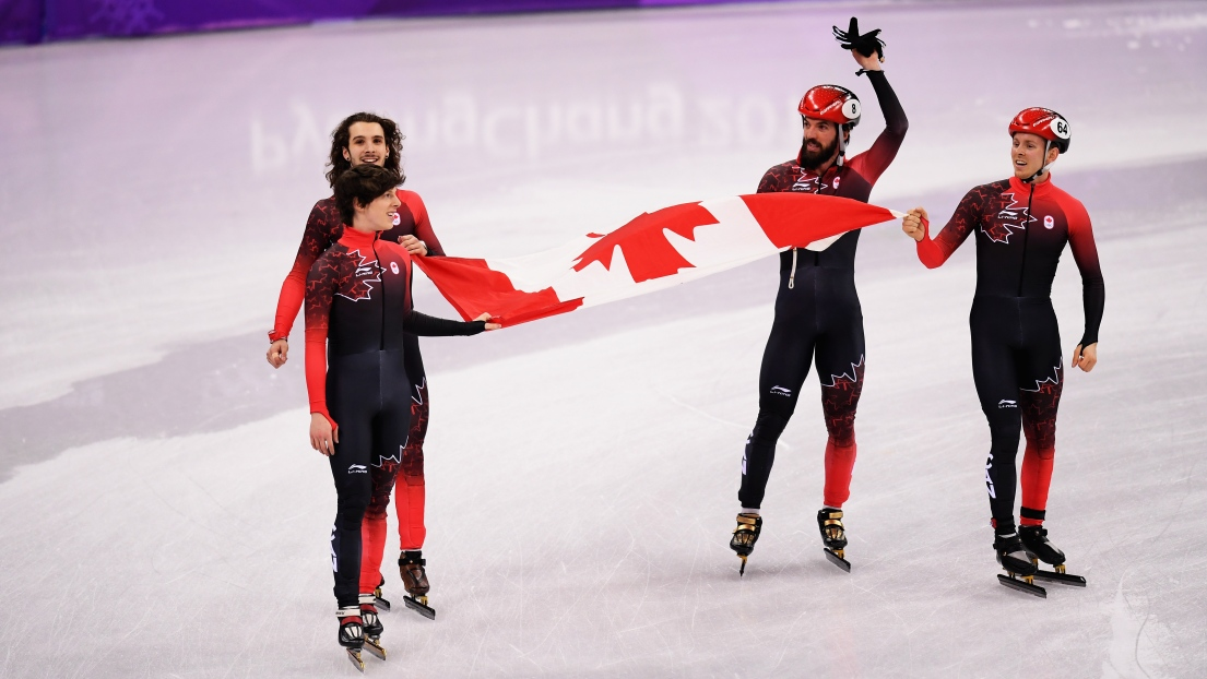 Charle Cournoyer, Samuel Girard, Charles Hamelin et Pascal Dion