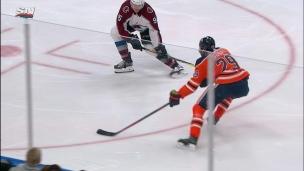 Leon Draisaitl 1 - La défense de l'Avalanche 0