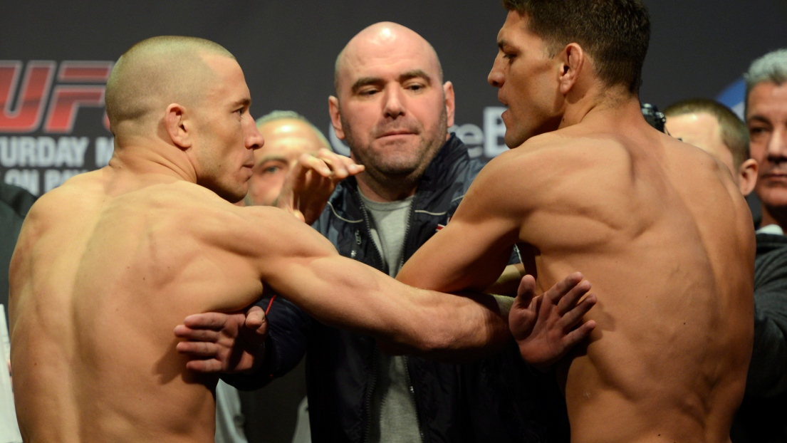 Georges St-Pierre et Nick Diaz