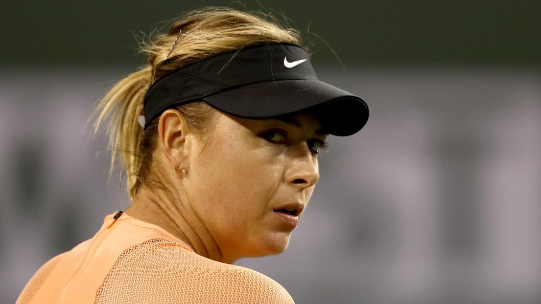 Tennis: mal partie, Sharapova passe sur abandon à Shenzhen