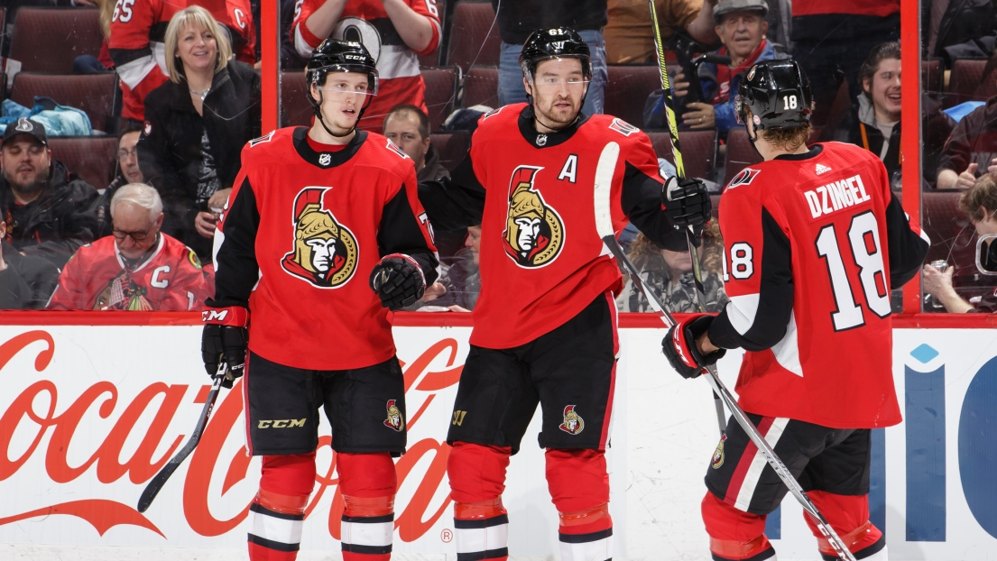Thomas Chabot et Mark Stone