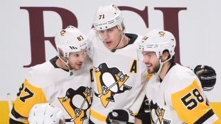 Sidney Crosby, Evgeni Malkin et Kris Letang