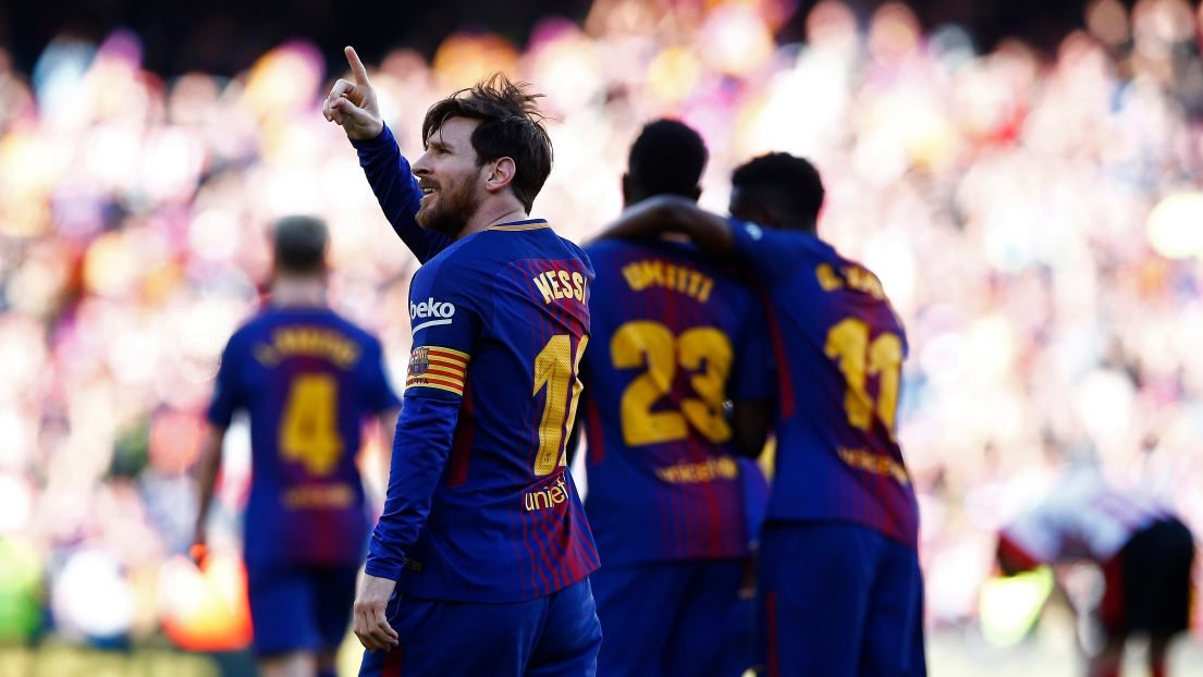 Le Barça s'impose tranquillement contre Bilbao — Liga