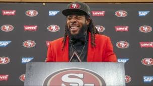 Sherman présenté aux médias de San Francisco