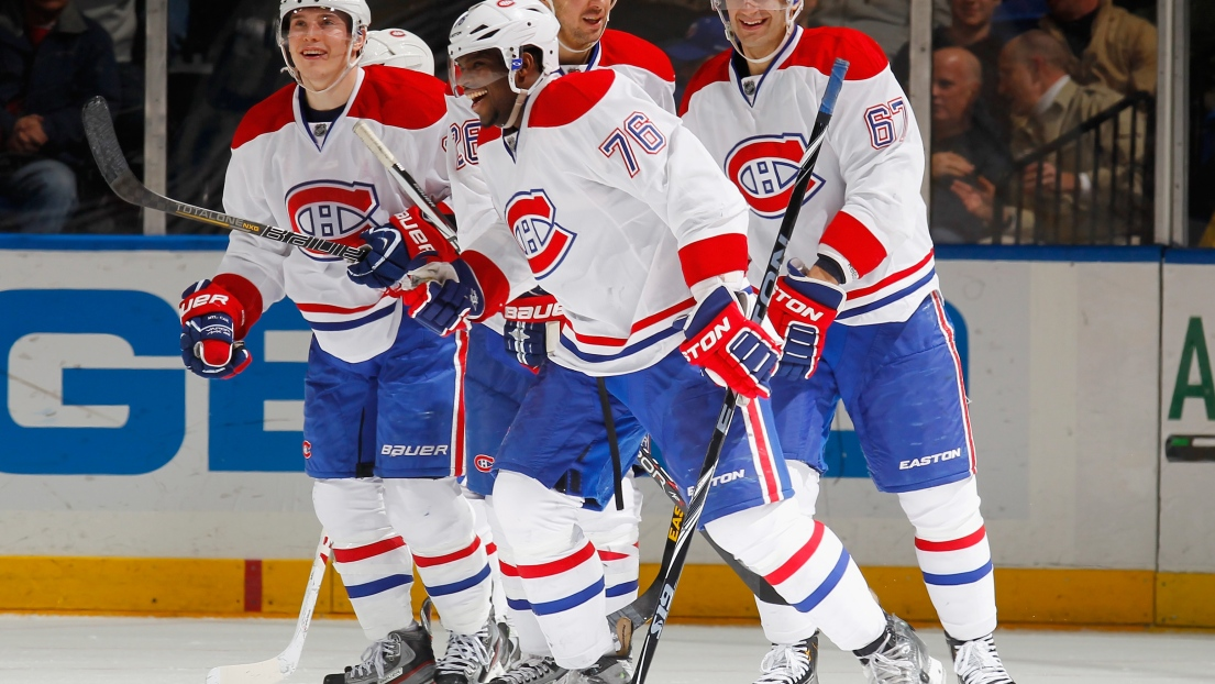 Brendan Gallagher, P.K. Subban, Josh Gorges, Max Pacioretty