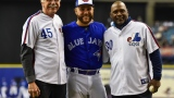 Steve Rogers, Russell Martin et Tim Raines au Stade olympique