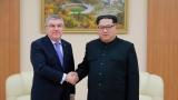 Thomas Bach et Kim Jong Un