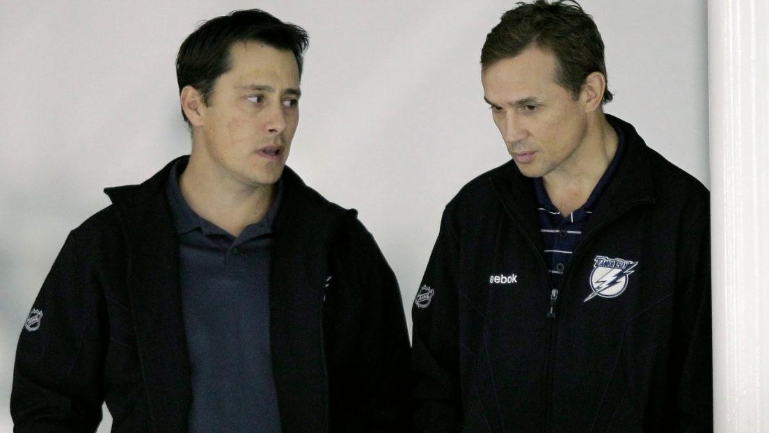 Guy Boucher et Steve Yzerman