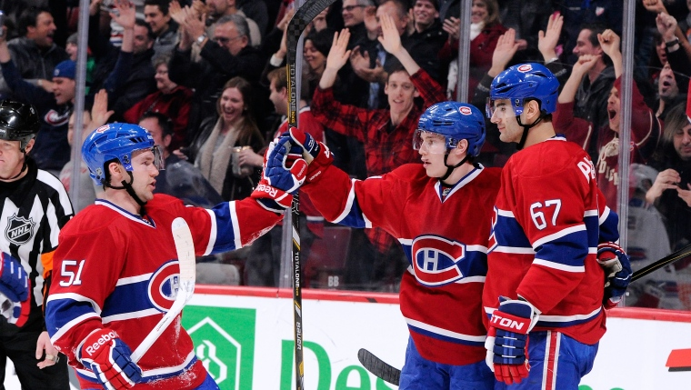 David Desharnais, Brendan Gallagher et Max Pacioretty