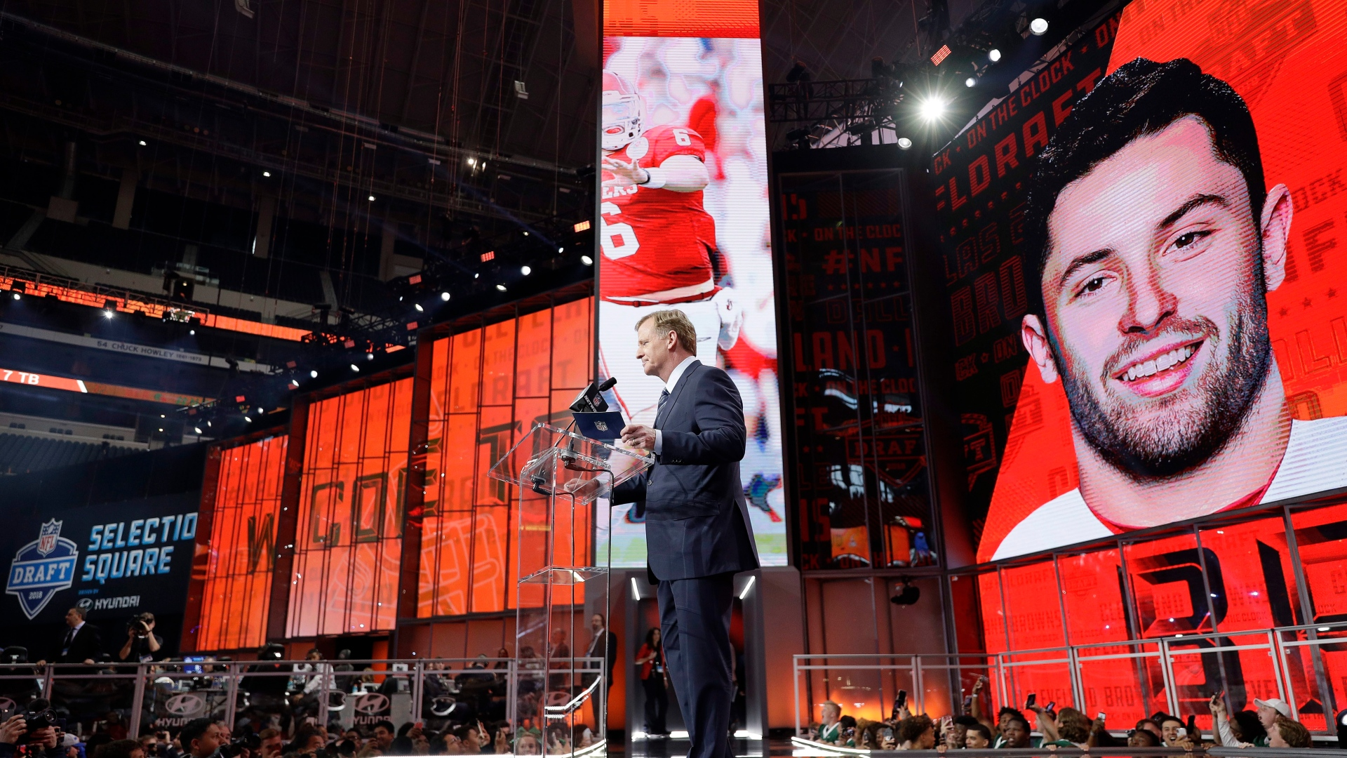 Roger Goodell annonce le choix des Browns, Baker Mayfield