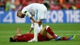 Sergio Ramos et Mohamed Salah