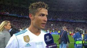 En espagnol : « Ça été bon de jouer au Real Madrid »