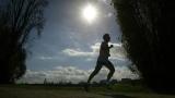 Un coureur sous le soleil