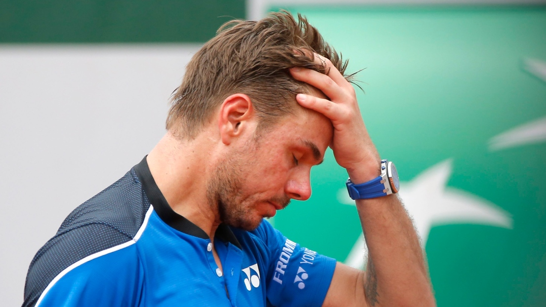 Roland-Garros : Wawrinka, finaliste l'an dernier, chute d'entrée de jeu