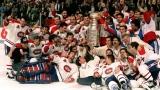 Les joueurs du Canadien avec la Coupe Stanley