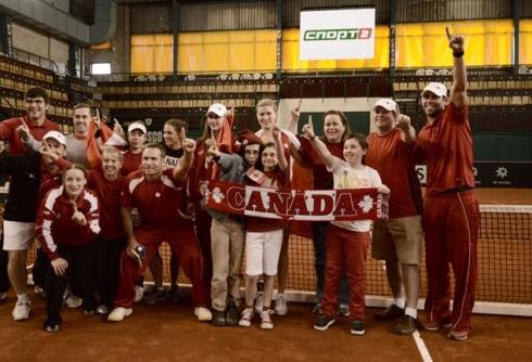 La délégation canadienne à la Fed Cup