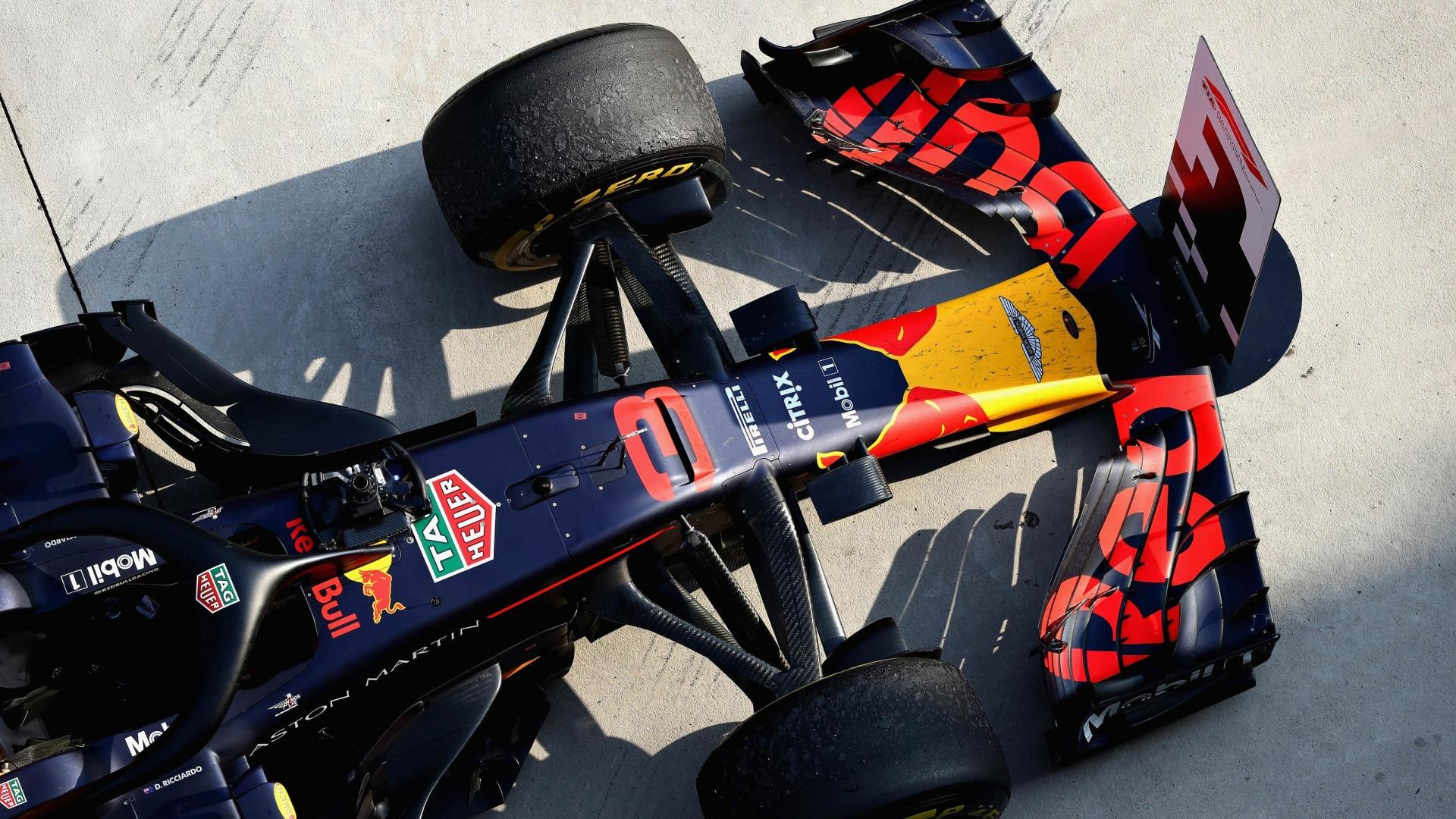 La Red Bull de Daniel Ricciardo après sa victoire au GP de Chine