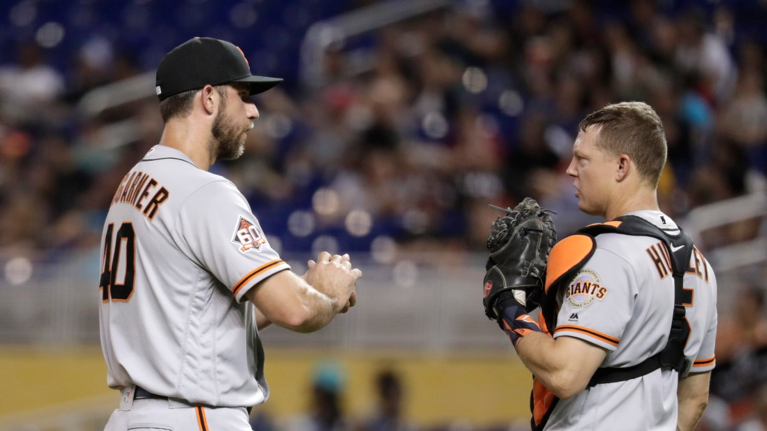 Madison Bumgarner et Nick Hundley