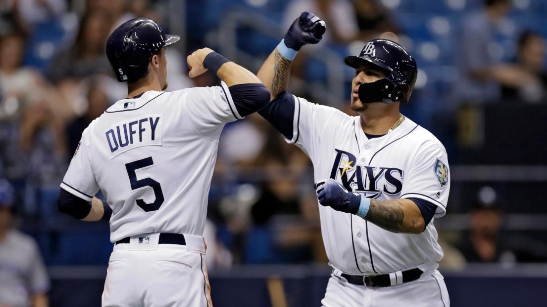 Matt Duffy et Wilson Ramos