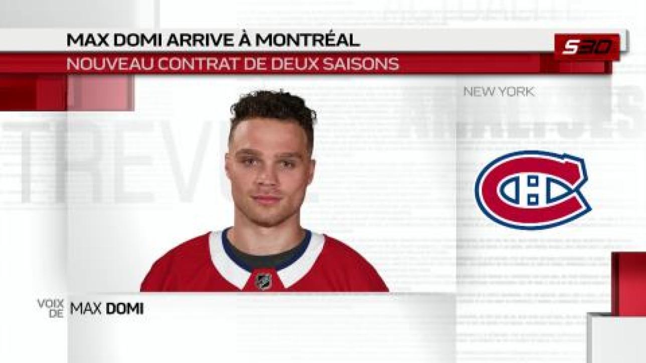 e0731abd509 Vidéo   Max Domi commente son arrivée à Montréal