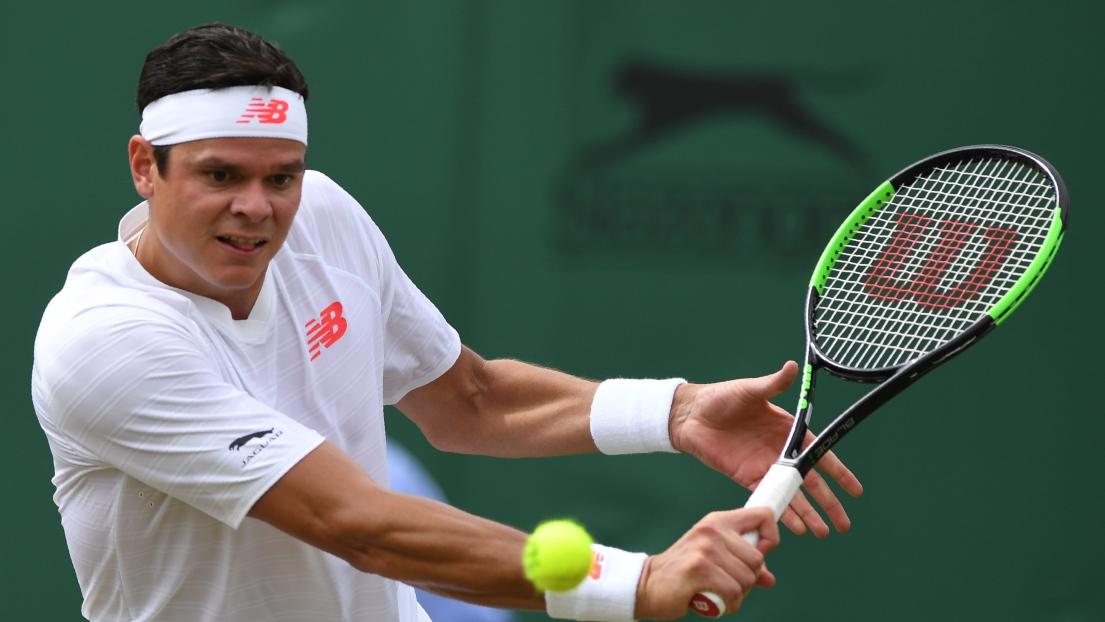 Milos Raonic disputera les quarts de finale — Wimbledon