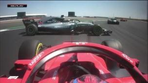 Hamilton se fait heurter dès le départ!