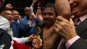 Un premier K.O. en 3164 jours pour Manny Pacquiao!