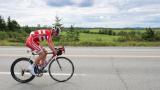 Un cycliste au Tour de l'Abitibi