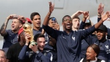 L'équipe championne de France, à son retour chez elle.
