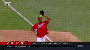 Oups! Andre Dawson n'a plus les réflexes d'antan!