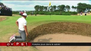 Oups! Brooks Koepka joue dans le sable