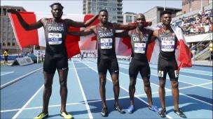 Le relais canadien s'impose à Toronto