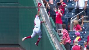 Adam Eaton l'acrobate ou le joueur de baseball?