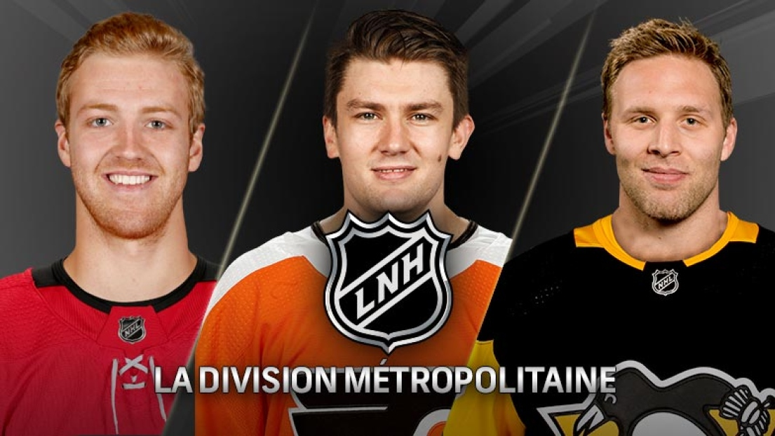 Dougie Hamilton, James van Riemsdyk et Jack Johnson.