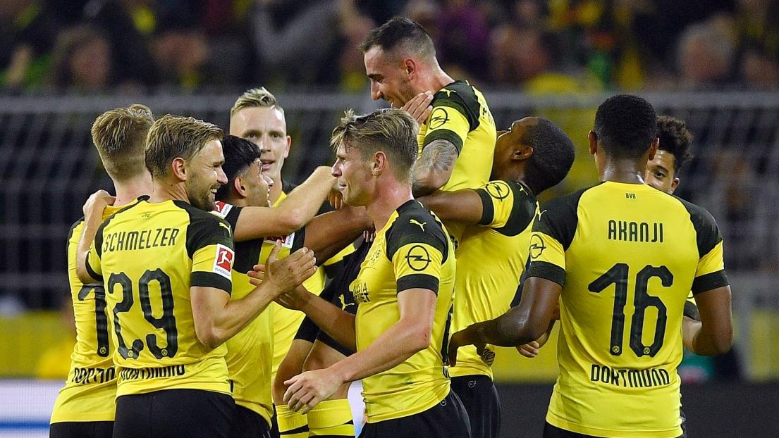 Les joueurs de Dortmund
