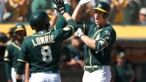 Jed Lowrie et Stephen Piscotty