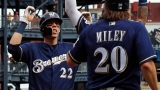 Christian Yelich et Wade Miley
